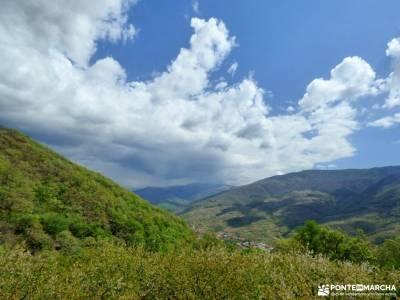 Cerezos flor_Valle del Jerte;puente almudena cain picos de europa castillo de gredos nieve sierra de